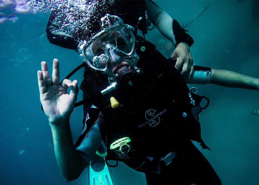 diving and freediving courses Fiji. SSI stress and rescue dive course.